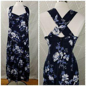 Vintage  Dress Plus size 22/24 2X 3X Floral Maxi